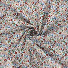 Poplin cotton fabric - white Mini calaveras x 10cm