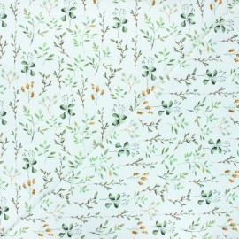 Printed jersey fabric - white Plantes sauvages x 10cm