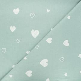 Tissu coton lavé Hearts - opaline x 10cm
