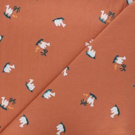 Tissu coton lavé Aladdin carpet - abricot x 10cm