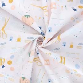 Poplin cotton fabric - pink Haberdashery x 10cm
