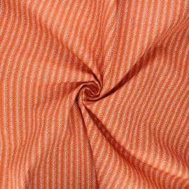 Poplin cotton fabric - orange Botanist coord x 10cm