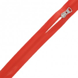 Waterproof closed-end zip by the meter with sliders - red Graphic