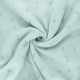 Tissu double gaze de coton Botanist - opaline x 10cm