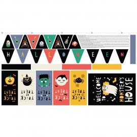 Tissu panneau coton - Halloween kit x 82 cm