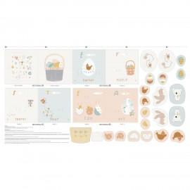Pannel cotton fabric - Halloween kit x 82 cm