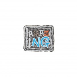 Embroidered iron-on patch - Amazing Best friend