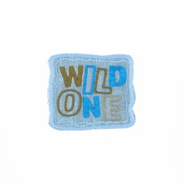 Embroidered iron-on patch - Wild one Best friend