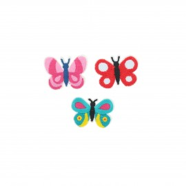 Embroidered iron-on patch Papillons (Pack of 3)