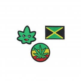 Embroidered iron-on patch Jamaica (Pack of 3)