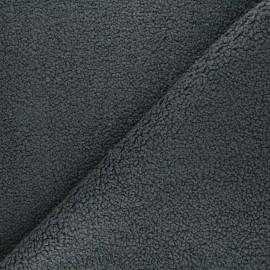 Tissu lainage bouclette Petite Ourse - gris anthracite x 10cm