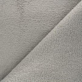 Curly Sheep Fur fabric - Dark grey Petite Ourse x 10cm