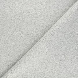 Tissu lainage bouclette Petite Ourse - gris clair x 10cm