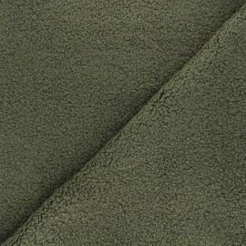 Curly Sheep Fur fabric - dark green Petite Ourse x 10cm