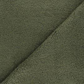 Tissu lainage bouclette Petite Ourse - vert foncé x 10cm