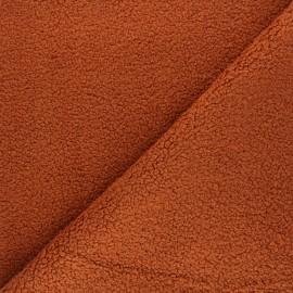 Tissu lainage bouclette Petite Ourse - roux x 10cm