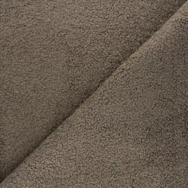 Tissu lainage bouclette Petite Ourse - brun x x 10cm