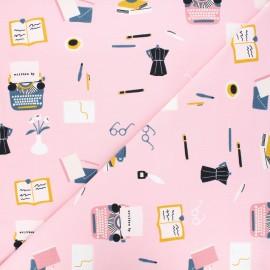 Tissu jersey Printing trade items - rose x 10 cm