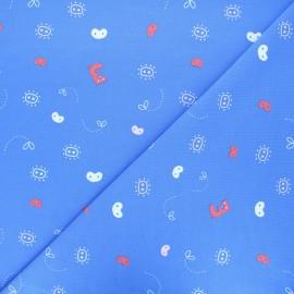 Tissu jersey Three pigs abstract - bleu x 10 cm