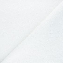 Tissu lainage bouclette Petite Ourse - écru x x 10cm