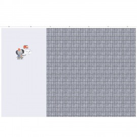 Tissu panneau jersey - Firefighter baby x 100 cm