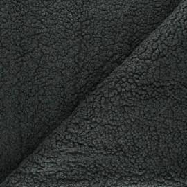 Tissu fourrure mouton Grande Ourse - gris anthracite x 10cm