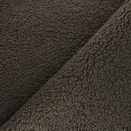 Sheep Fur fabric - brown Grande Ourse x 10cm