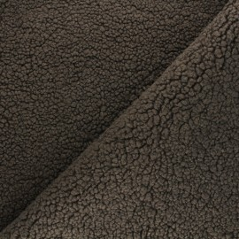 Tissu fourrure mouton Grande Ourse - marron x 10cm