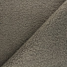 Sheep Fur fabric - taupe brown Grande Ourse x 10cm