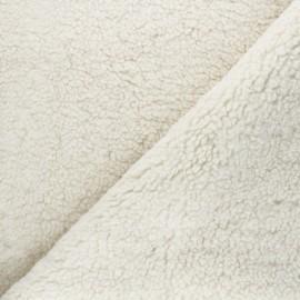 Sheep Fur fabric - off-white Grande Ourse x 10cm