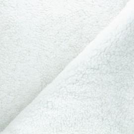 Tissu fourrure mouton Grande Ourse - blanc x 10cm
