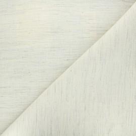 Tissu crin coton - beige x 10cm