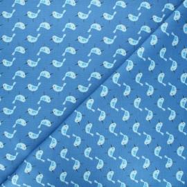 Cotton Camelot Fabrics - blue Bird watching x 10cm