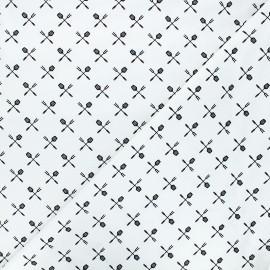 Tissu coton Camelot Fabrics Bbq accessories - blanc x 10cm