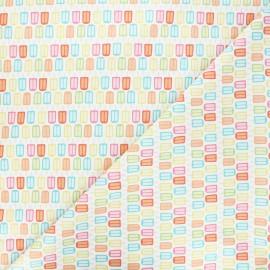 Cotton Camelot Fabrics - white Bright popsicles x 10cm