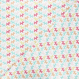 Tissu coton Camelot Fabrics Bright balloon animals - blanc x 10cm