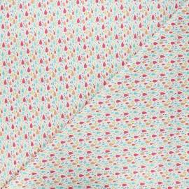 Cotton Camelot Fabrics - white Bright raindrops x 10cm