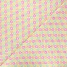 Tissu coton Camelot Fabrics Bright fruit slices - blanc x 10cm