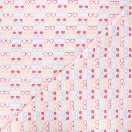 Cotton Camelot Fabrics - pink Bright sunglasses x 10cm