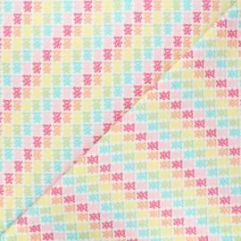 Cotton Camelot Fabrics - white Bright Gummy bears  x 10cm