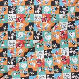 Tissu coton cretonne Tune squad - multicolore x 10cm