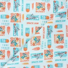 Tissu coton cretonne Lola & Bugs Bunny - bleu céladon x 10cm