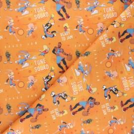 Cretonne cotton fabric - orange Ready to jam x 10cm