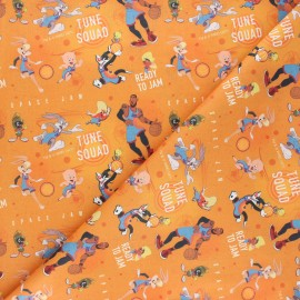 Tissu coton cretonne Ready to jam - orange x 10cm
