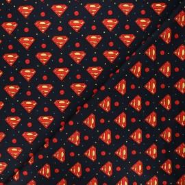 Tissu coton Camelot Fabrics Justice League Superman Logo - bleu nuit x 10cm