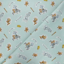 Tissu coton Camelot Fabrics Tom and Jerry Foes forever - opaline x 10cm