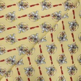 Tissu coton Camelot Fabrics Tom and Jerry together - jaune x 10cm