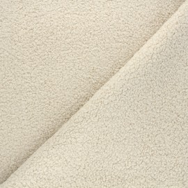 Curly Sheep Fur fabric - beige Petite Ourse x 10cm
