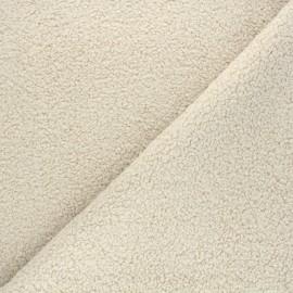 Tissu lainage bouclette Petite Ourse - beige x 10cm