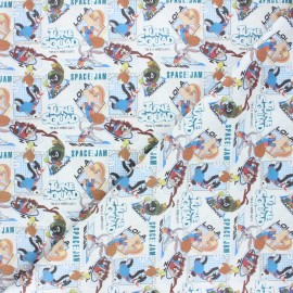 Tissu coton cretonne A new legacy - blanc x 10cm